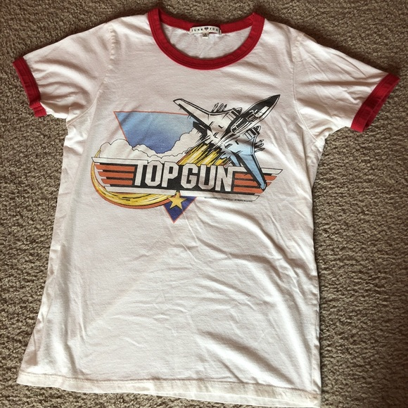 65c08aa8 Urban Outfitters Tops | Top Gun Graphic Tee Shirt | Poshmark